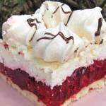 Ciasto Malinowa Chmurka na biszkopcie +FILM