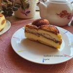 Sernik gotowany na kawowych biszkoptach