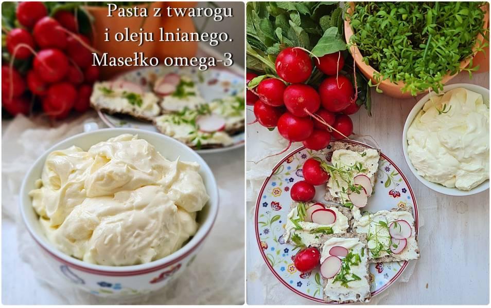 Pasta z twarogu i oleju lnianego na różne dolegliwości zdrowotne. Zdrowe masełko omega-3