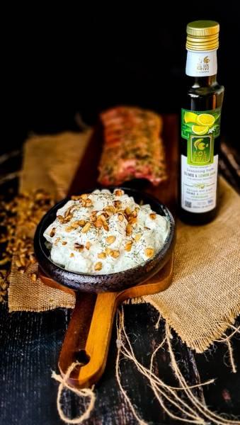 Snezhanka sałatka plus żeberka miętowo-cytrynowe