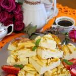 Waniliowy sernik z mango