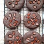 Wegańskie czekoladowe ciasteczka brownie, czyli ciastka idealne