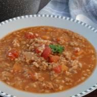 Pożywna zupa z mięsem mielonym i pomidorami