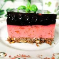 Proste ciasto jagodowo – truskawkowe
