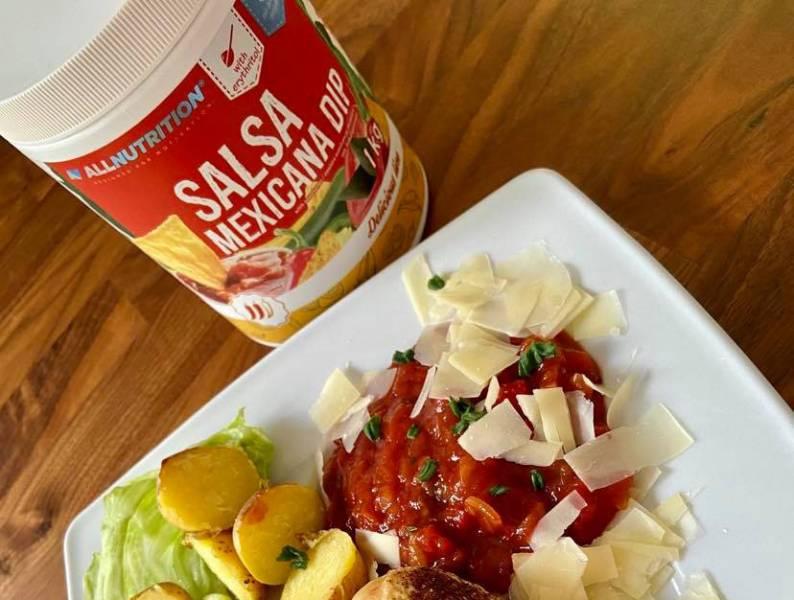 Dietetyczny Dip Salsa Mexicana z chili i jalapeno