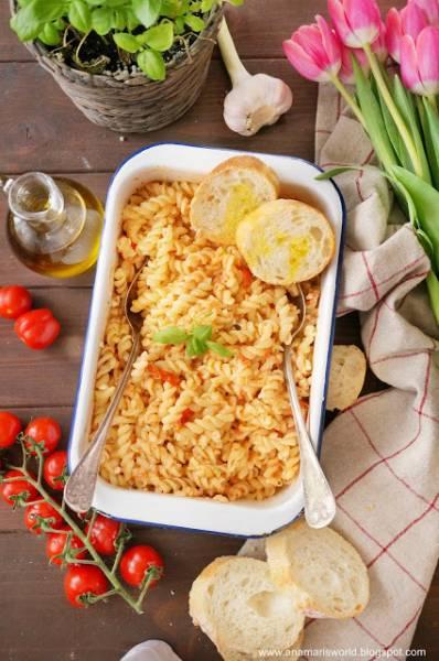 Makaron z pieczoną fetą i pomidorkami - Feta Tomato Pasta hit Tik Toka