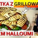 Sałatka z grillowanym serem halloumi
