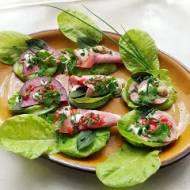 Kanapki warzywne bez chleba - białkowe