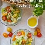 Sałatka z sałaty i pomidora
