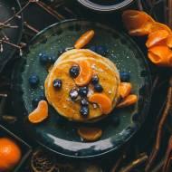 Wegańskie pancakes z bananów i mąki orkiszowej