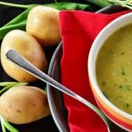 Zupa szczawiowa z jajem i puree ziemniaczanym