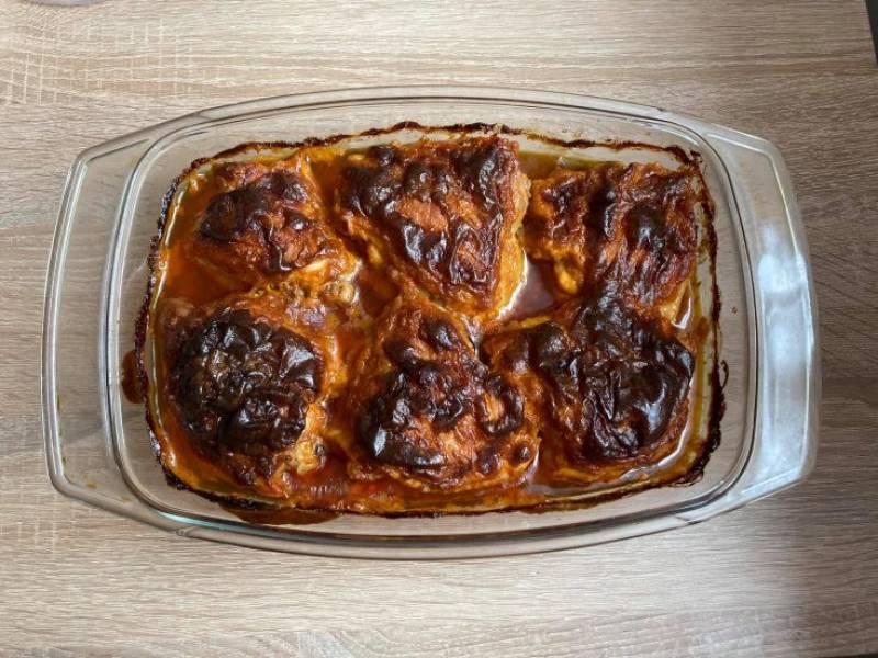 Pieczone udka z kurczaka w prostej marynacie