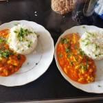 Ryż z kurczakiem w sosie z mango