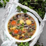 Zupa pieczarkowa z pokrzywą i amarantusem