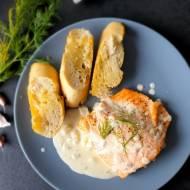 Łosoś w sosie chrzanowym – pieczony lub grillowany