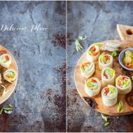 Tortilla z łososiem, kozim serem i sosem aioli