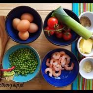 Jajecznica z krewetkami