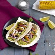 Tacos z pieczarkami w marynacie z papryczki chipotle