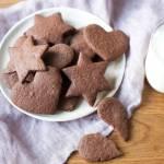 Kruche kakaowe ciasteczka maślane