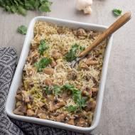 Zapiekanka z ryżem i pieczarkami