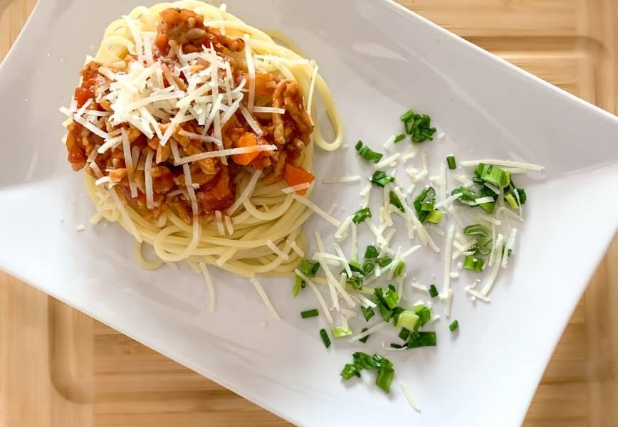 Polsko – włoskie spaghetti Bolognese