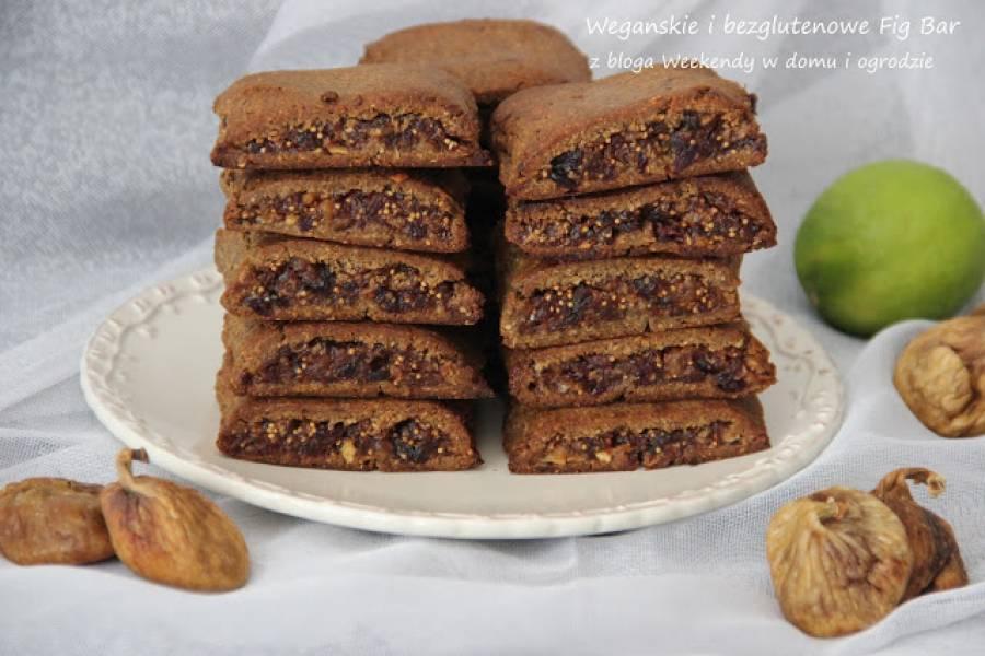 Wegański i bezglutenowe ciastka Fig Bar