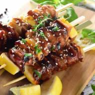 Japońskie szaszłyki z kurczaka Yakitori