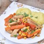 Jednogarnkowa potrawka z mięsa i warzyw