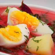 Zupa z botwiny z ziemniakami i jajkiem