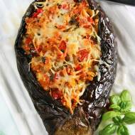 Bakłażan faszerowany  warzywami i kaszą kuskus
