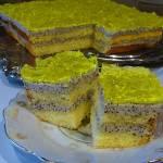 Ciasto z kremem serowo-makowym