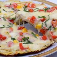 Pizza z tortilli na patelni
