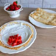 Naleśniki z serem twarogowym na słodko