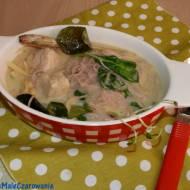 Zupa - zielone curry z kurczakiem