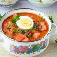 Pyszna botwinka z ziemniakami i jajkiem