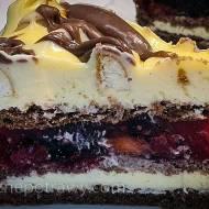 Ciasto owocowa góra lodowa