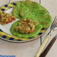 Zielone jaglano - rukolowe naleśniki z salsą z awokado