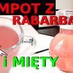 Przepis na kompot rabarbarowo-miętowy