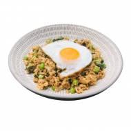 Smażony ryż z mielonym indykiem