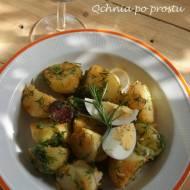 Sałatka z młodych ziemniaków i chorizo