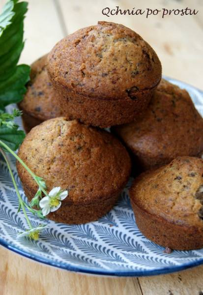 Muffinki z gorzką czekoladą