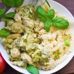 Kurczak z brokułami i makaronem