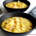 Wiosenna zupa z białymi szparagami