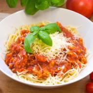 Spaghetti z mięsem drobiowym - fit, dietetyczne