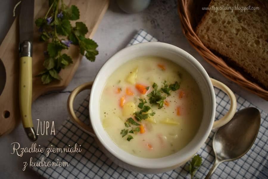 Zupa rzadkie ziemniaki z kudroniem – kuchnia podkarpacka
