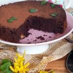 Brownie z czarnej soczewicy