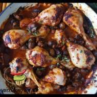 Pikantny kurczak z pieczarkami