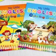 My Little English Coloring Book - recenzja kolorowanek, które uczą języka angielskiego