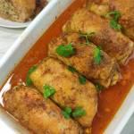 Udka faszerowane mięsem mielonym i pieczarkami