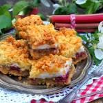 Ciasto z rabarbarem i wiśniami